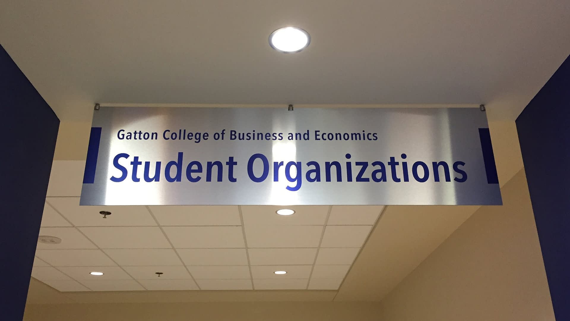 Gatton college student organization banner