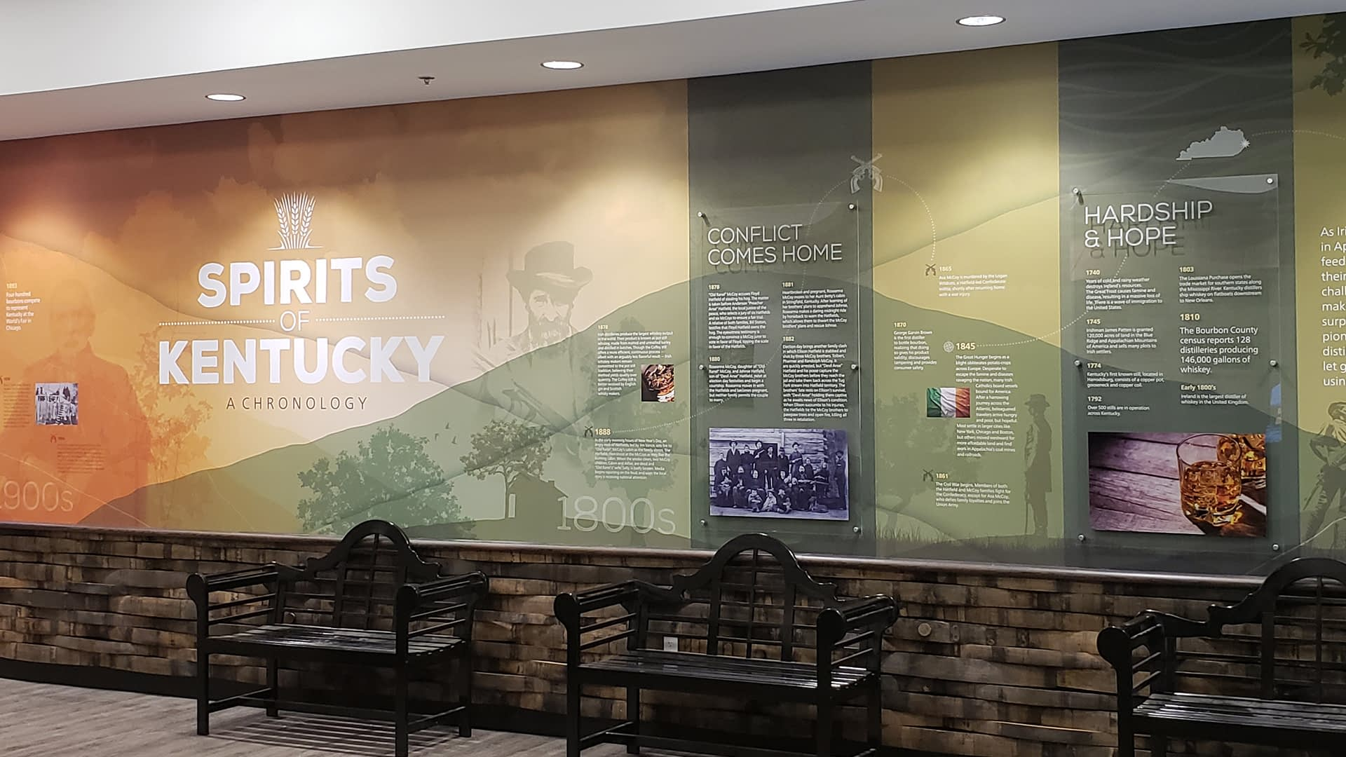 Spirits of Kentucky distillery wall graphic
