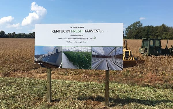 Kentucky Fresh Harvest Outdoor sign