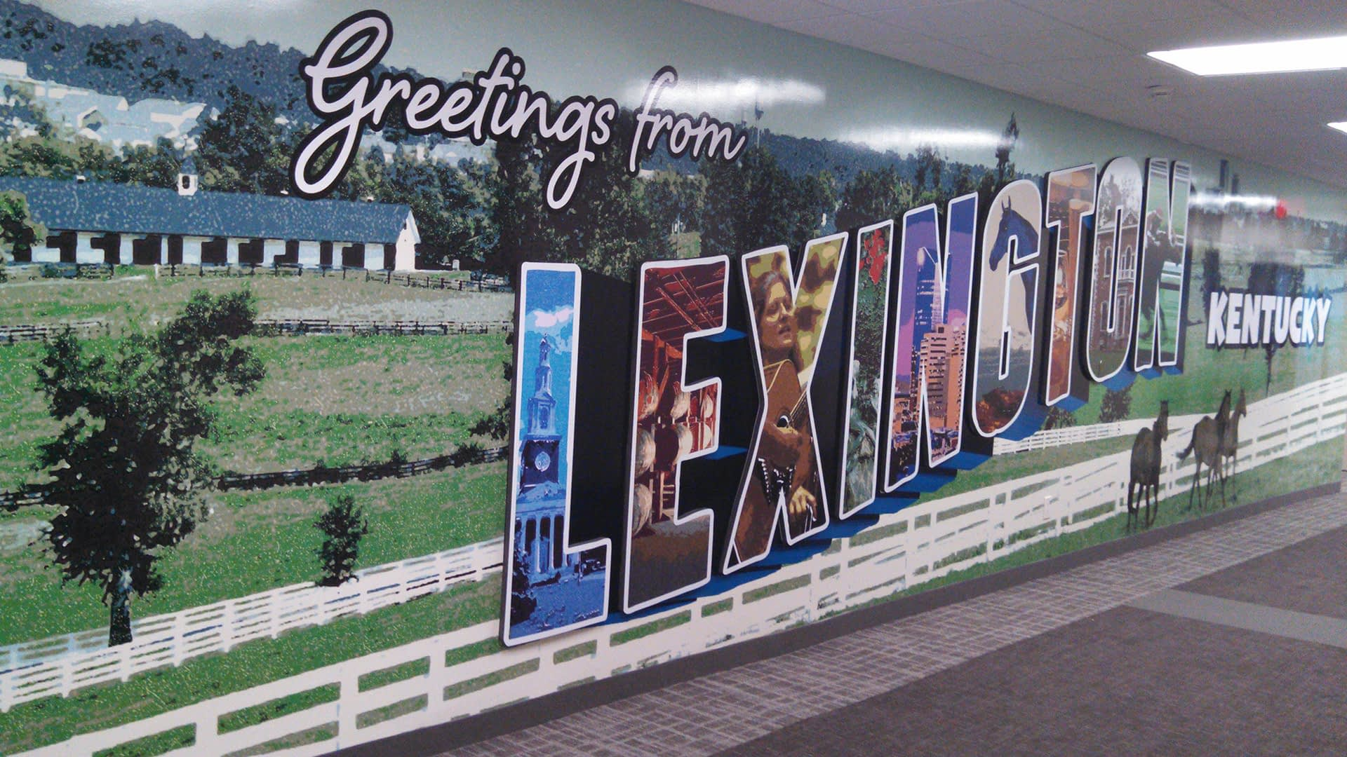 Greetings for Lexington Kentucky Wall Graphic