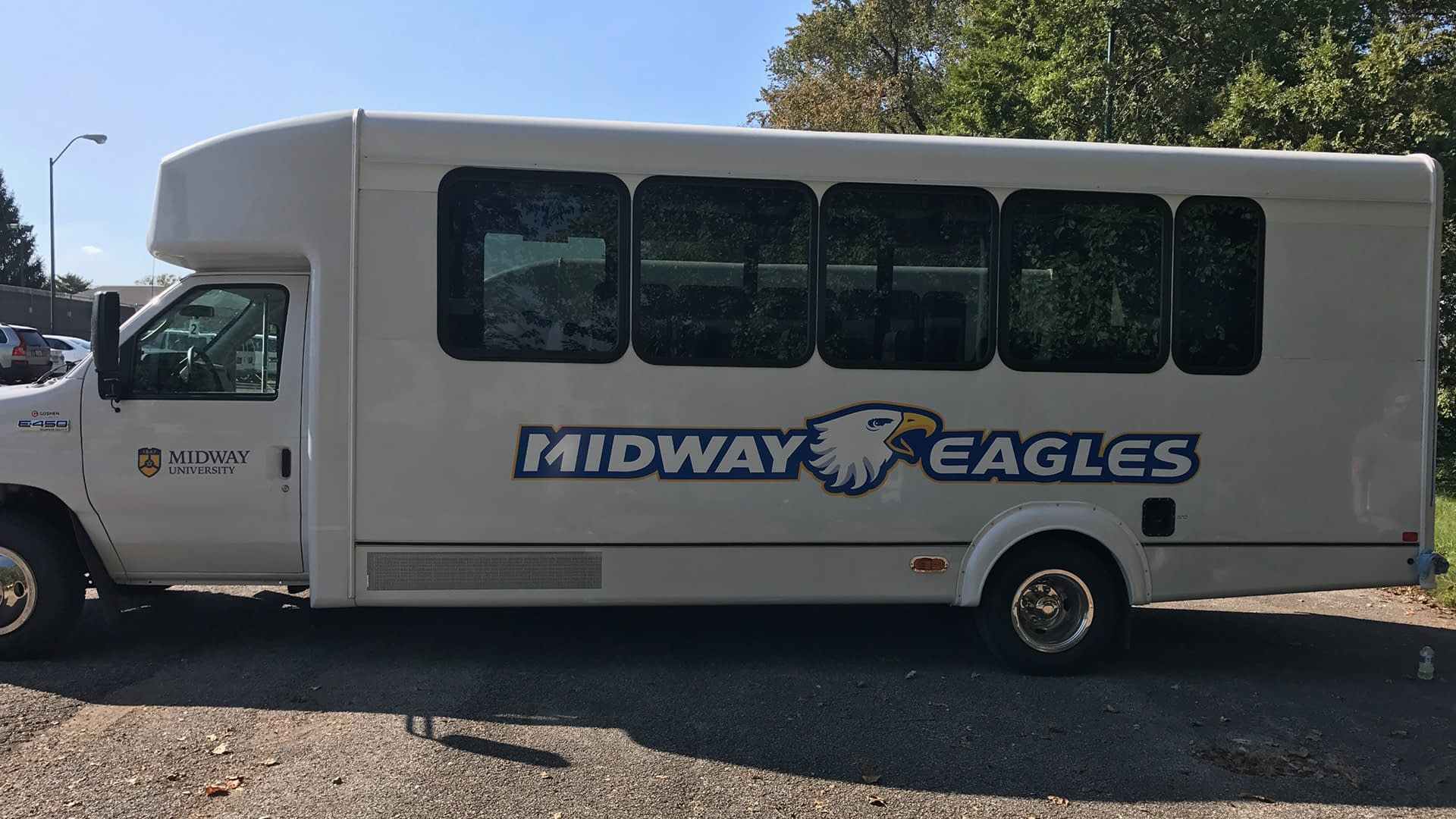 Midway eagles bus decal